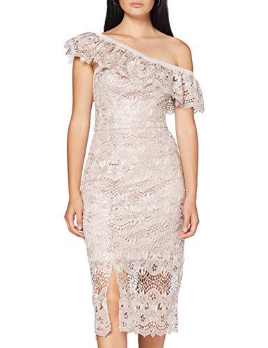 Chi Chi London Chi Chi Kellen Dress Vestito, Rosa (Mink Mi), 38 IT (Dimensioni Produttore:6) Donna