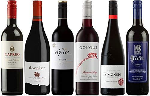CAPREO Weinpaket Rotwein | Probierpaket mit Rotweinen aus Südafrika (6 x 750ml)