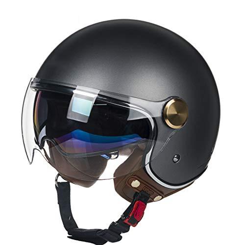 GAOZ Doppelvisier Jet-Helm · Motorrad-Helm Roller-Helm Scooter-Helm Moped Mofa-Helm...