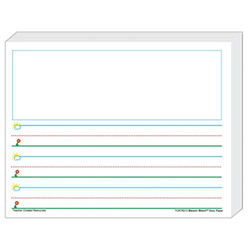 Teacher Created Resources Smart Start K-1 Story Paper: 360 Sheets (76513),White