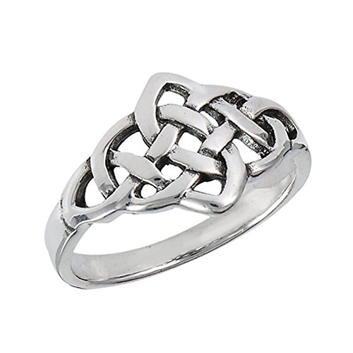 Oxidized Celtic Weave Infinity Knot Ring New 925 Sterling Silver Band Size 7