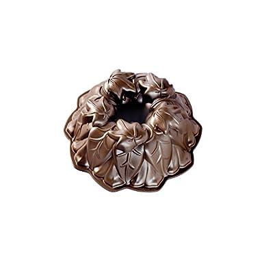Nordic Ware Harvest Leaves Bundt Pan, Bronze