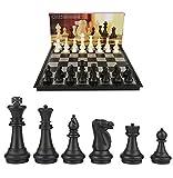 HHXWU Ajedrez ajedrez ajedrez Extra Grande ajedrez magnético Plegable Tablero de ajedrez, ajedrez