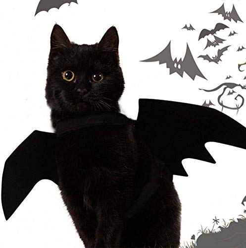 WAWJ Store Halloween Cool Puppy Cat Bat Change Clothes Pet Bat Wings Dog Bat Costume for Christmas
