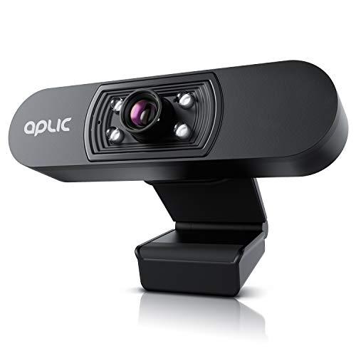 CSL - Webcam Full HD 1080p mit Mikrofon - 2k 1920x1080P @ 25 Hz – 4 Hilfslichter/Szenelicht– 5P Linse – automatischer Weißabgleich - für PC MAC - OBS, Zoom, Mixer, Skype, Google Hangouts, FaceTime