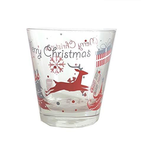 Excelsa - Juego de 6 Vasos de Navidad, 25 x 9 cm