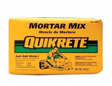 MORTAR MIX 40# QUIKRETE by QUIKRETE MfrPartNo 1102-40