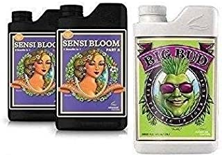 Advanced Nutrients Sensi Bloom A & B 500mL & Big Bud 250mL Bundle with Conversion Chart and 3mL Pipette