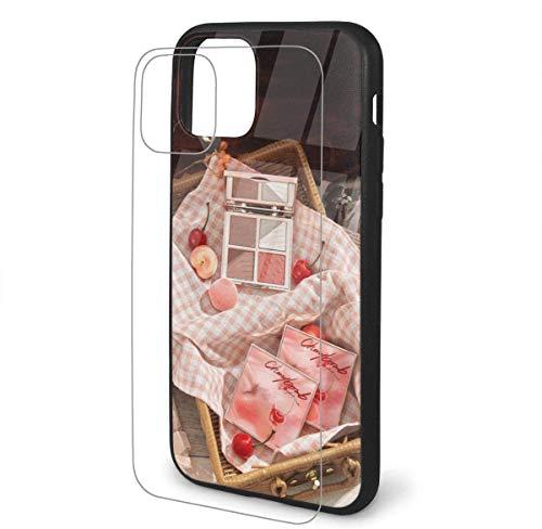Funda para iPhone 11 Pro Max, diseño de patrón cosmético | grado militar | 12 pies funda protectora probada | parte trasera de cristal templado 9H + protección de marco suave de TPU