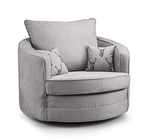 Honeypot - Sofa - Verona - Fullback - Corner Sofa - 3 Seater - 2 Seater - Footstool (Grey, Swivel Chair)