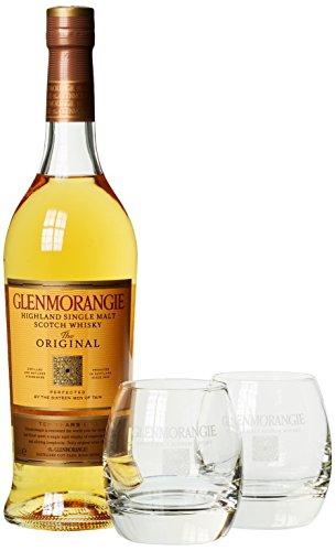 Glenmorangie Original 10 Years Old mit Geschenkverpackung und 2 Gläsern (1 x 0.7 l)