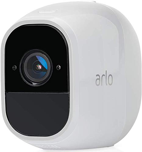 Arlo Pro2 Smart Home Security CCTV Camera system Add On | Wireless WiFi, Alarm, Rechargeable, Night Vision, Indoor or Outdoor, 1080p, 2-Way Audio, Free Cloud Storage, Camera only, VMC4030P