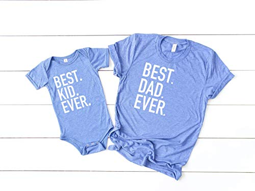 Fathers day gift from wife matching son and dad top first fathers day best kid ever best dad