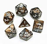 HD DICE DND Dice Set RPG dados para mazmorras y dragones D&D Pathfinder Juegos de rol Brown mix Grey Polyhedral Dice
