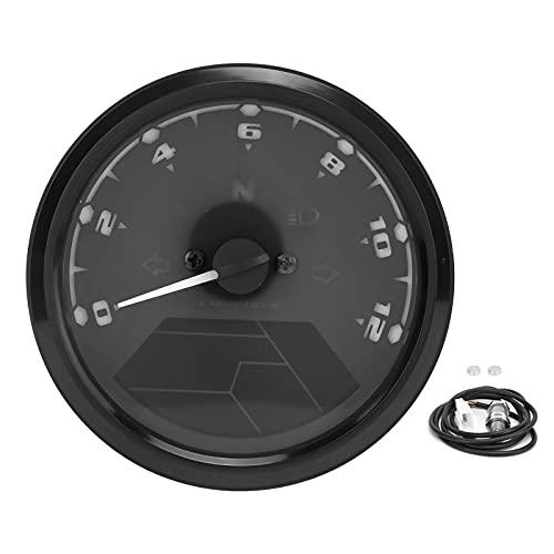 Velocímetro de motocicleta, LCD, indicador digital de motocicleta, 3 en 1, velocímetro LED, tacómetro, odómetro, función de alarma impermeable, 12 V
