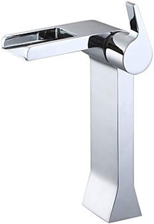 Kitchen Sink Taps Bathroom Taps Waschtischarmatur Pool Waterfall with Ceramic Chrome Sink Faucet