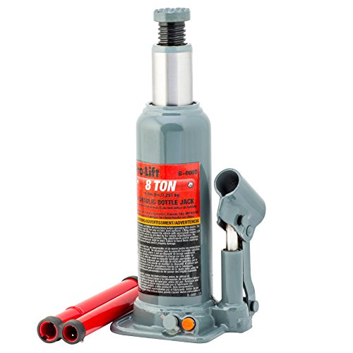 Pro-Lift B-008D Grey Hydraulic Bottle Jack - 8 Ton Capacity