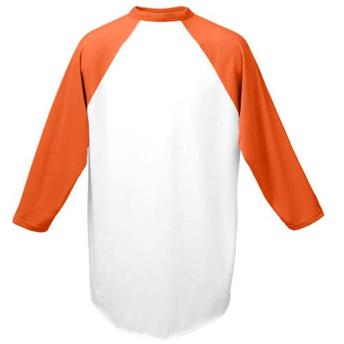 Augusta Herren Sportswear Baseball Jersey, Herren, weiß/orange, Medium