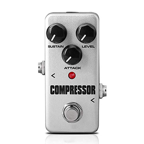 eamqrkt Pedal de Guitarra Efecto Procesador Accesorios Portátil para Instrumentos Musicales Bajo - Compresor, Small