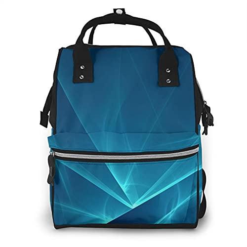 ZHOUWE Brillante azul textura de cristal momia bolsa de pañales bolsas de mayor capacidad bebé pañal bolsa moda patrón momia mochila, Negro, talla única