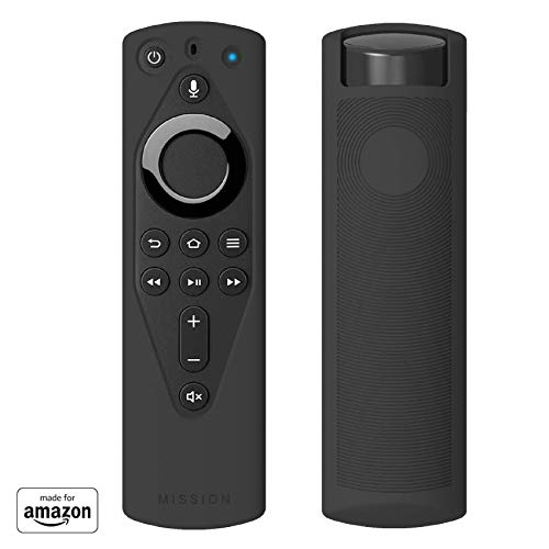 Made for Amazon Remote Cover Case, for Alexa Voice Remote- Midnight Black