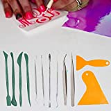 BLOUR 12 Piezas Set DIY Scrapbooking Material Adhesivos Herramientas de deshierbe artesanales para Siluetas de Vinilo, camafeos, rotulación Adhesiva Herramientas