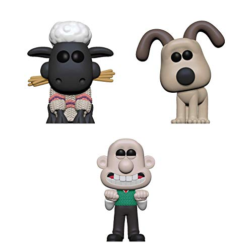 Funko Pop! Bundle of 3: Wallace & Gromit - Wallace, Gromit and Shaun The Sheep
