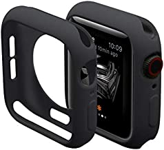 Hontao Ultra Thin Soft TPU Shockproof Bumper Case for iWatch Apple Watch Series 3/2/1 Black 38mm