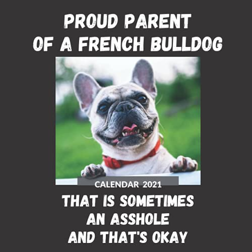 French Bulldog Calendar 2021: Funny Proud Parent French Bulldog Mom Or Dad Gift Idea For Men & Women | January 2021 - December 2021 Square Photo Book ... Or Birthday Present For French Bulldog Lovers