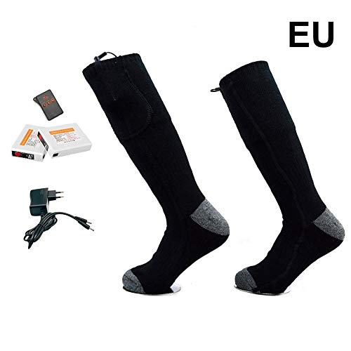 QUUY verwarmde sokken 3.7V 2200MA oplaadbare winterwarme sokken - dubbelzijdige drietraps thermostaat, voetwarmuitrusting voor het paardrijden buiten, lopen vissen