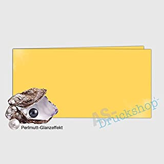 Faltkarte   Doppelkarte DIN-Lang -  Gold  - mit Perlmutt-Glanz - 50 Stück B01N1ZXNGM  Wunderbar