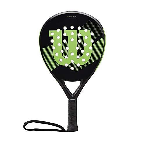 Wilson Blade Junior, WR033211U0 Racchetta da Padel, per Tennisti Junior, Fibra di Vetro e EVA, 300 g, Nero Verde