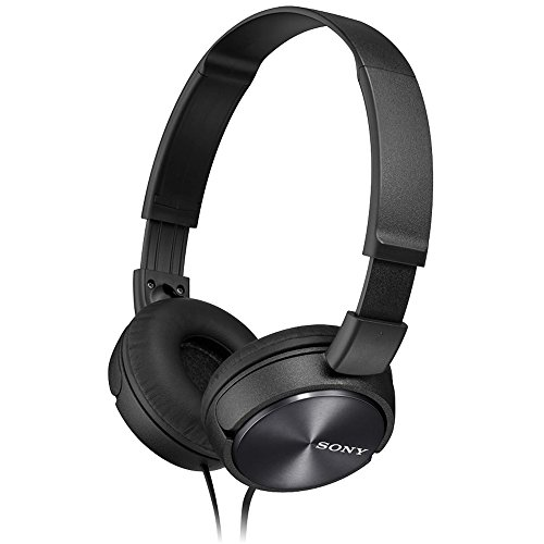 Sony MDRZX310 Foldable Headphones - Metallic Black