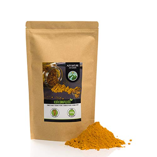 Turmeric Powder (500g, 1.1 lb), Curcuma 100% Natural, Gently Dried and Ground Turmeric Root, No additives, Vegan
