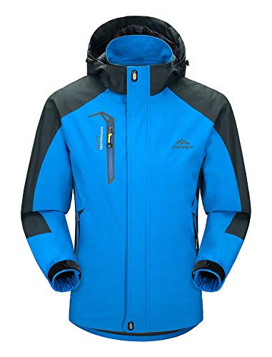 Men's Spring Jacket Hooded Windproof Jacket Breathable Windproof Outdoor Camping Jacket 2XL