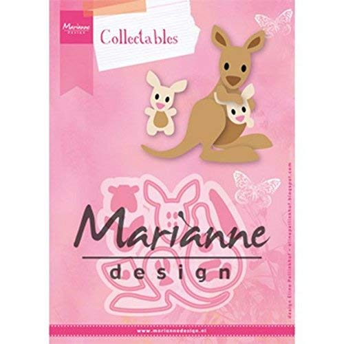 Metal Marianne Design Fustella Collectables Orsetto Pink 7.5x10x0.4 cm