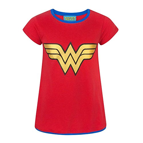 DC Comics Wonder Woman Metallic Logo Girl's T-Shirt (5-6 Years)