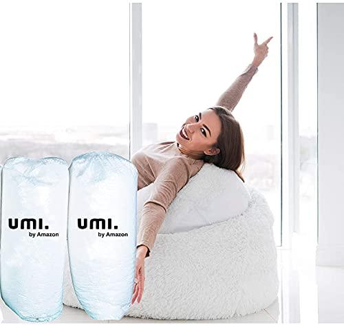 Amazon Brand - Umi. Premium 2 Kg Bean Bag Refill/Filler - White Water (2 kg Beans - 1400 Grams net Weight as per Indian Standards)