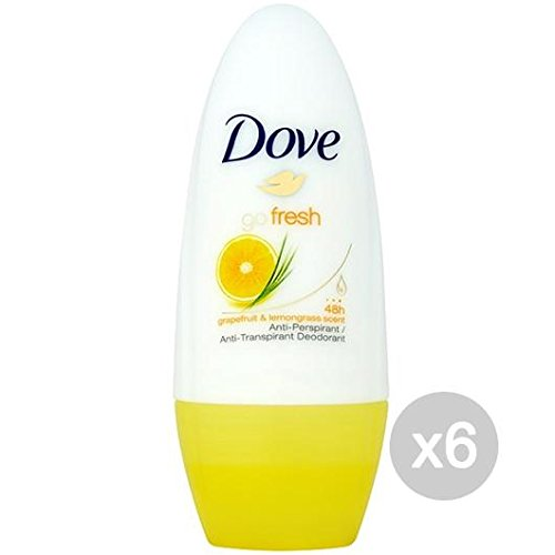 Set 6 DOVE Déodorant Roll-On 50 Go Fresh Pamplemousse - Lion 100% Soin et Hygiène du Corps