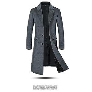 [GOS] トレンチコート メンズ ジャケット スプリングコート テーラード ジャケット 防風 ビジネス カジュアル 折り襟 秋 冬 春 おしゃれ (グレー/2XL) 1P MC001