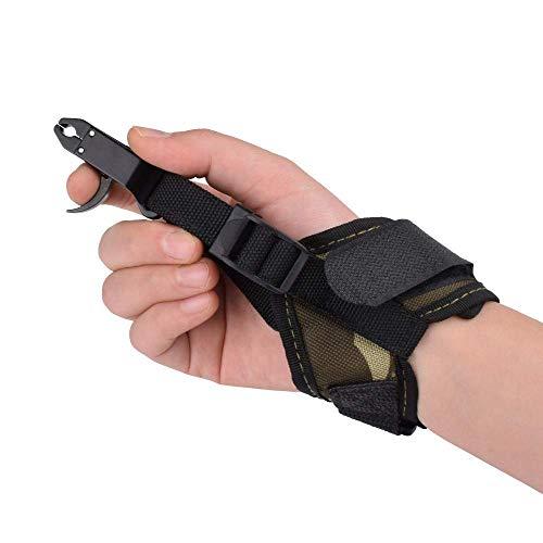 Hunter Ian Archery Compound Bow Quick Shot Release Buckle Strap Camo Wrist Strap Trigger Caliper Shooting Left & Right Hand