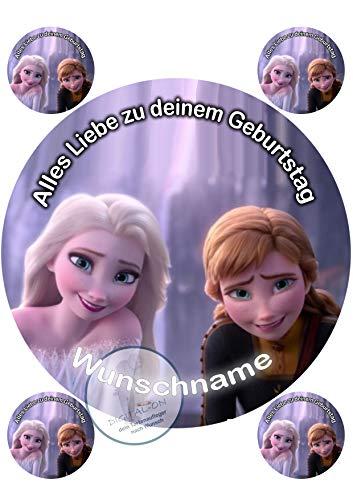 Tortenaufleger Tortenbild Geburtstag Frozen Die Eiskönigin Fondant 0208w