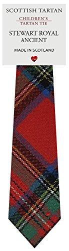 I Luv Ltd Garçon Tout Cravate en Laine Tissé et Fabriqué en Ecosse à Stewart Royal Ancient Tartan