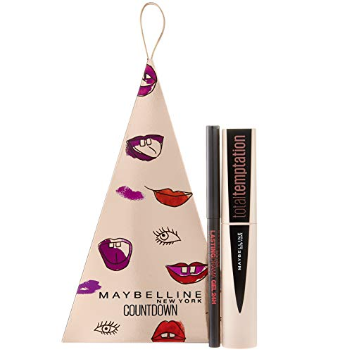 Maybelline New York Set regalo con Total Temptation Mascara e Lasting Drama 24H Gel Mechanical Eyeliner in Beyond Black, 10 ml