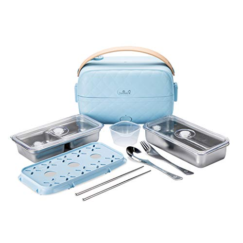 Yum Asia Bonsai Bento Elektrischer Reiskocher und Dampfgarer (0,2l, 1 Tasse), 220-240V UK/EU-Stromversorgung