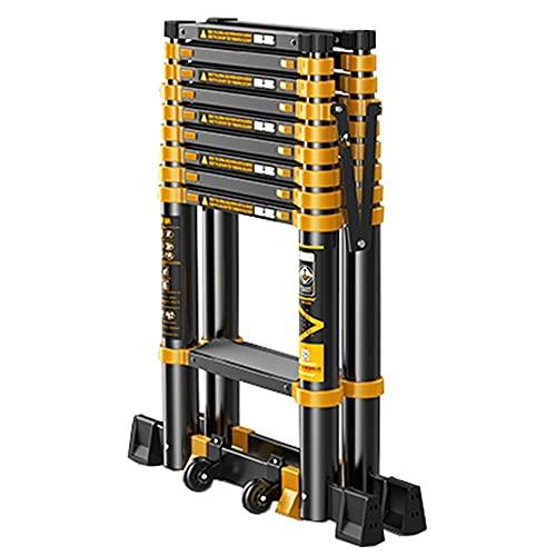 WHOJS Escalera Plegable De Aluminio Una Escalera De Extensión Tipo Polea Portátil...