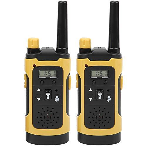 Deror Walkie Talkies para niños, 2 Piezas Walkie Talkies para niños, portátil, inalámbrico, simulación, intercomunicadores en Tiempo Real, Juguete