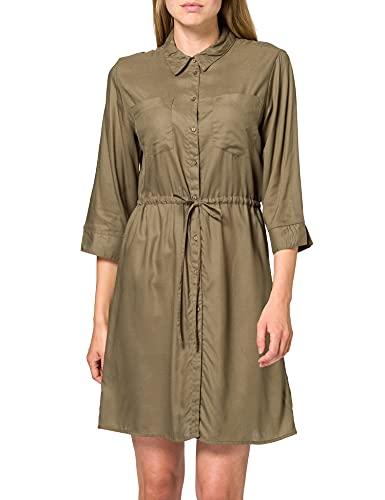 Only ONLTAMARI 3/4 Shirt Dress WVN Noos Vestido, Kalamata, 42EU para Mujer