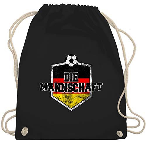 Shirtracer Fußball-Europameisterschaft 2020 - Deutschland- Die Mannschaft Vintage - Unisize - Schwarz - die mannschaft 2018 - WM110 - Turnbeutel und Stoffbeutel aus Baumwolle