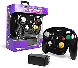 TTX Gamecube Wavedash Wireless2.4 Ghz 控制器黑色 适用于 Nintendo Gamecube 带 Wii 控制台(任天堂 Wii)